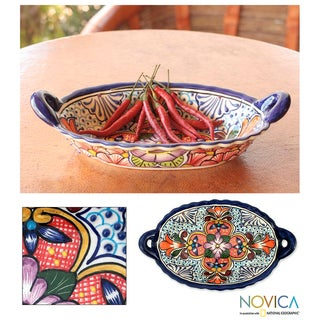 Ceramic 'Wilderness' Talavera Bowl (Mexico)