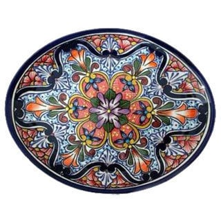 Ceramic 'A Taste of Mexico' Talavera Serving Plate (Mexico)