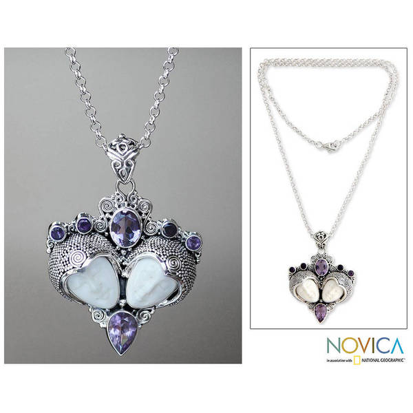Handmade Sterling Silver 'Royal Romance' Amethyst Necklace (Indonesia) 9853804