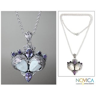 Sterling Silver 'Royal Romance' Amethyst Necklace (Indonesia)