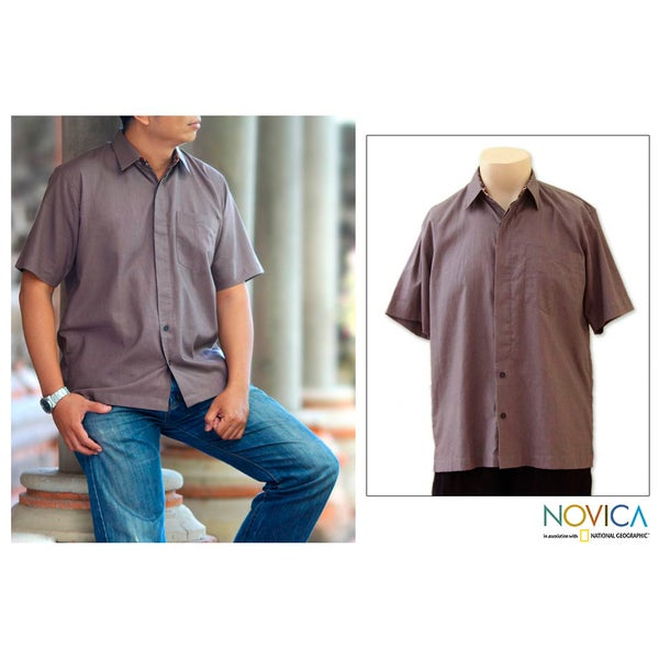 Men's Cotton 'Lombok Earth' Shirt (Indonesia)