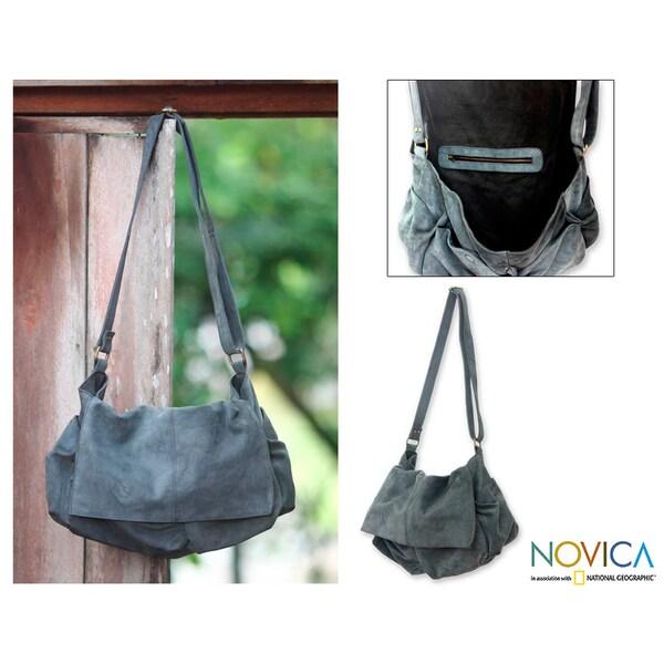 Large Leather 'Ubud Retro' Messenger Bag (Indonesia)
