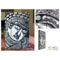 Albesia Wood 'Silver Blessings' Wall Sculpture (Indonesia)
