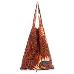 Large Cotton 'Surakarta Legacy' Batik Foldable Tote Bag (Indonesia)