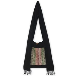 Cotton 'Exotic Lanna' Medium Sling Bag (Thailand)