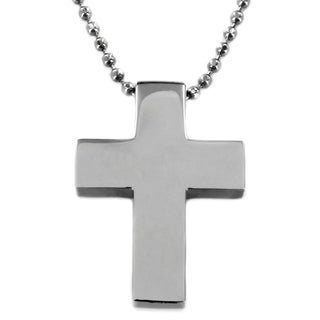 Stainless Steel Polished Cross Necklace