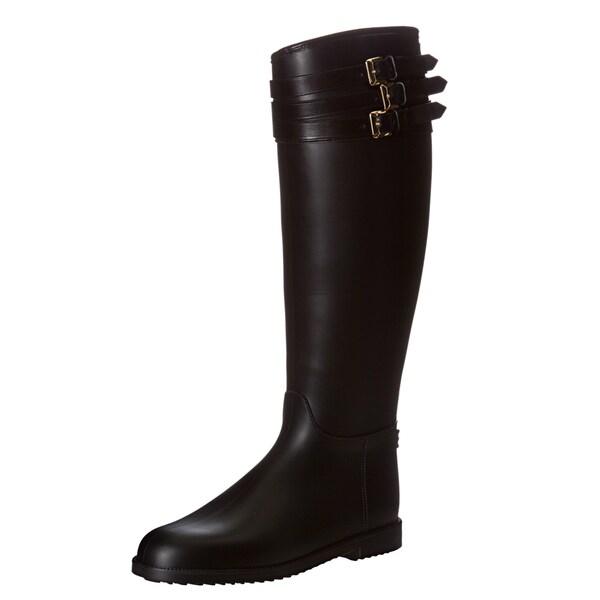 Burberry Women's '3770895' Equestrian Rainboots Size 10 (EU 40)