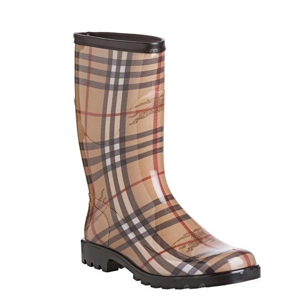 Burberry Women's '3770889' Haymarket Check Rainboots