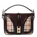 Burberry '3826777' Small Haymarket Suede Panel Crossbody Bag