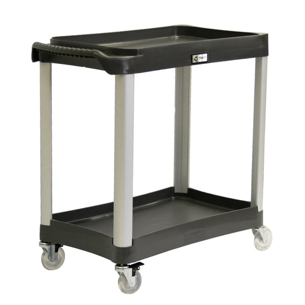 Trinity EcoStorage Black Commercial-grade 2-tier Utility Cart