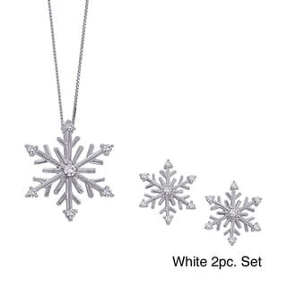 Sterling Silver Diamond Snowflake Jewelry Collection