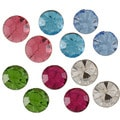 City by City City Style Silvertone Multi-colored Cubic Zirconia 6-pair Stud Earring Set