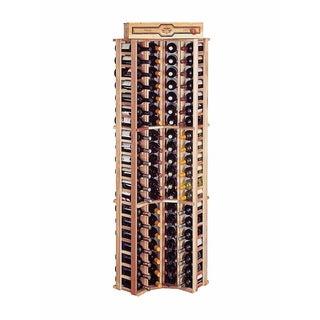 Traditional Redwood Curved Corner Wine Rack