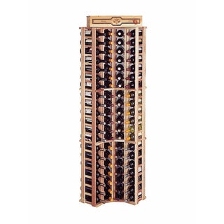 Traditional Redwood Curved Corner Wine Rack