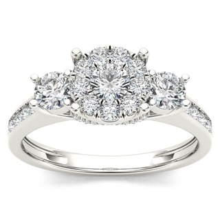 De Couer 10k White Gold 1ct TDW Diamond Ring (H-I, I2)