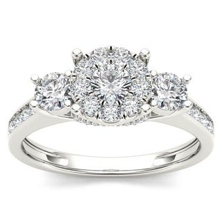 10k White Gold 1ct TDW Imperial Diamond Engagement Ring (H-I, I2)