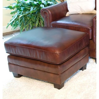 Winslow Top Grain Leather Standard Ottoman