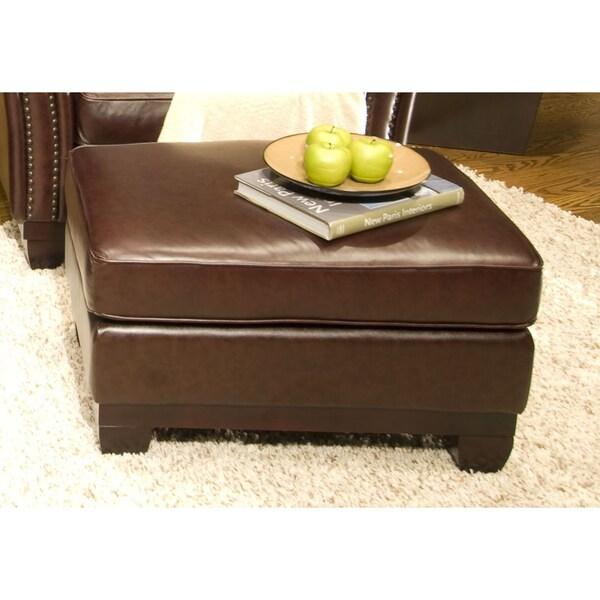 Serafina Top Grain Leather Standard Ottoman