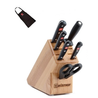 Wusthof Gourmet 7-piece Starter Knife Block Set with Bonus Wusthof Apron