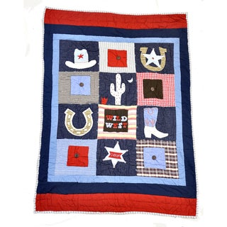 Boots and Badges Baby Quilt