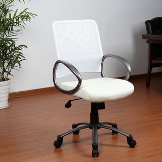 Aragon White Mesh Back Task Chair