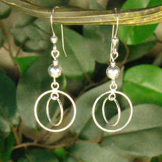 Jewelry by Dawn Sterling Bead With Double Hoop Sterling Silver Earrings