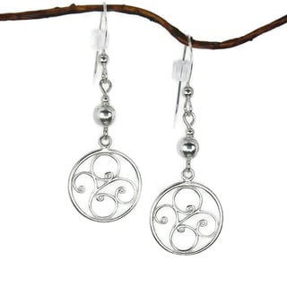 Jewelry by Dawn Sterling Bead With Round Filigree Sterling Silver Earrings