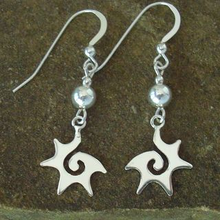 Jewelry by Dawn Sterling 5mm Bead With Starburst Sterling Silver Earrings
