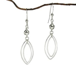 Jewelry by Dawn Sterling Silver Bead with Double Marquis Drop Earrings