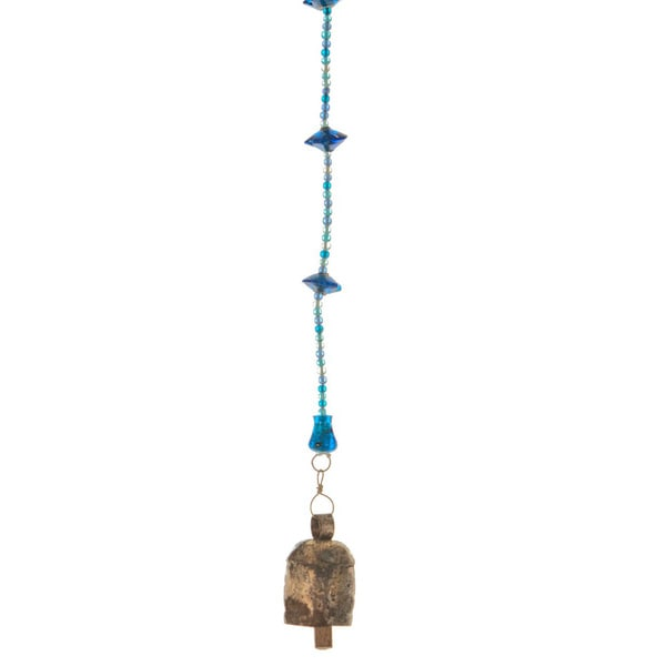Sky Blue Wind Chime 64-inch Long - Handmade (India)