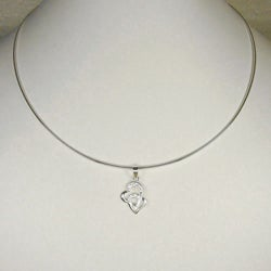 Jewelry by Dawn Double Heart Sterling Silver Omega Chain Necklace