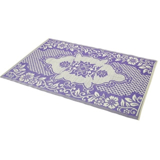 Indoor/Outdoor Rug Purple/Ivory (6' x 4')