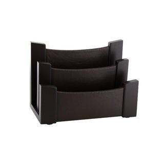 Office Depot Espresso Wood/Leather Desktop Sorter