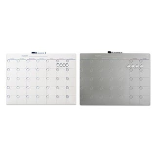 Quartet Magnetic Tin 1-Month Calendar Dry-Erase Board