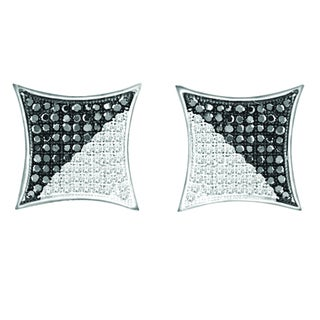 De Couer 10k White Gold 1/2ct TDW Black and White Diamond Earring (H-I, I2)