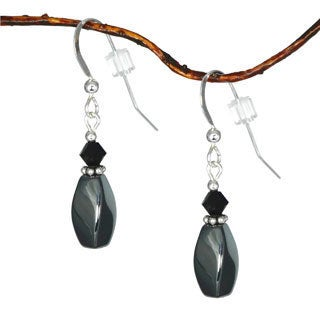 Jewelry by Dawn Twisted Hematite Sterling Silver Earrings