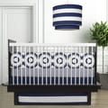 Oilo Wheels Cobalt Blue 3-piece Crib Bedding Set