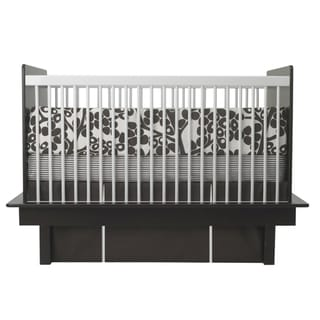 Oilo Modern Berries Brown 3-piece Crib Bedding Set