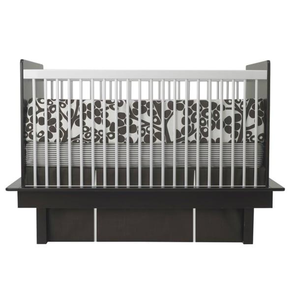 Oilo Modern Berries Brown 3-piece Crib Bedding Set