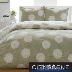 City Scene Raindance 3-Piece Duvet Cover Set