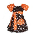 Just Girls Polka Dot Fun Pumpkin Dress