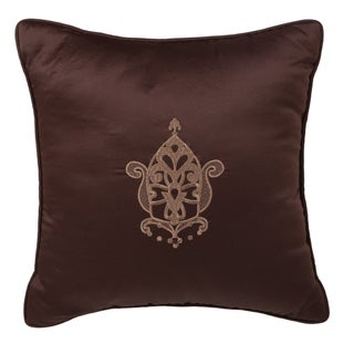 Kally Embroidered 16-inch Square Decorative Pillow