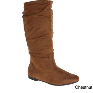 I-Comfort Women's Microsuede Slouch Boots