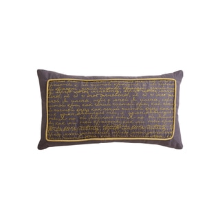 Jasper Script Decorative Pillow