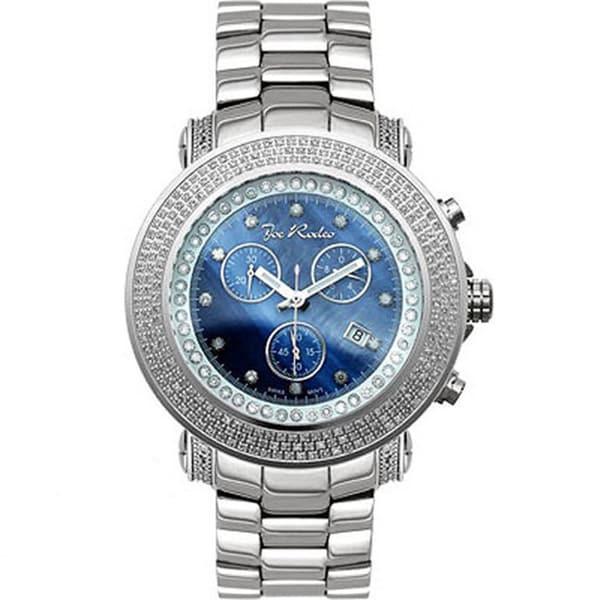 Joe Rodeo Men's Blue Dial 'Junior' Diamond Watch