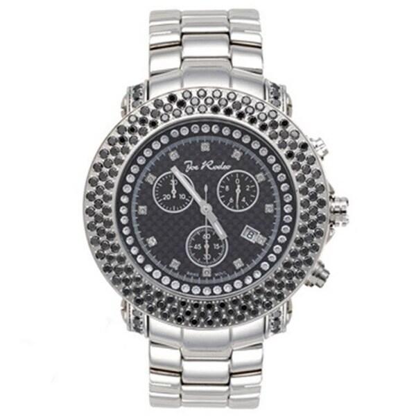 Joe Rodeo Men's Black Dial 'Junior' Diamond Watch