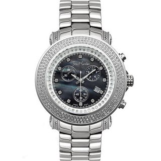 Joe Rodeo Men's Black Dial 'Junior' Diamond Chronograph Watch
