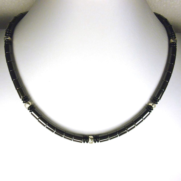 Jewelry by Dawn Hematite With Black And Silver Necklace