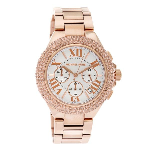 Michael Kors Women's MK5636 Rose Gold-Tone Camille Watch