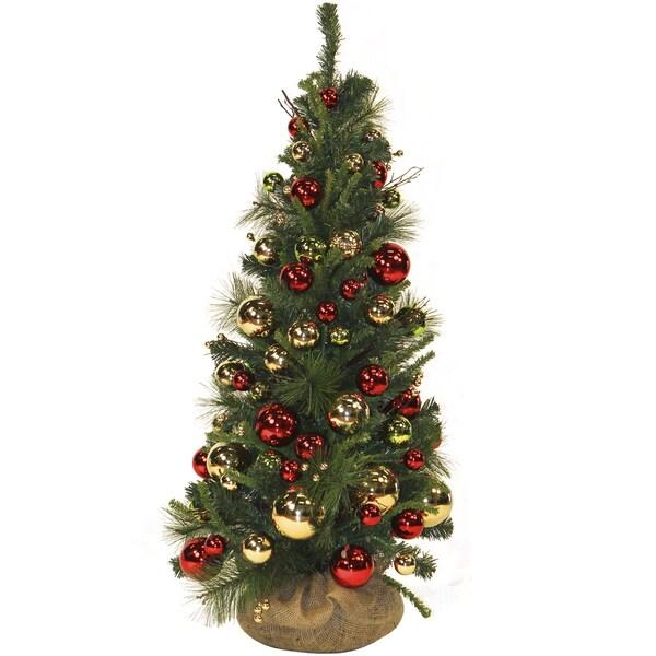 Ornament-embellished Christmas Tree (4')